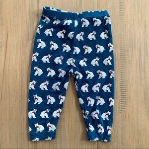 Kickee Pants   Dark Turquoise Polar Bear Pants